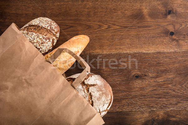 Variety Of Breads In The Bag Stock photo © AndreyPopov