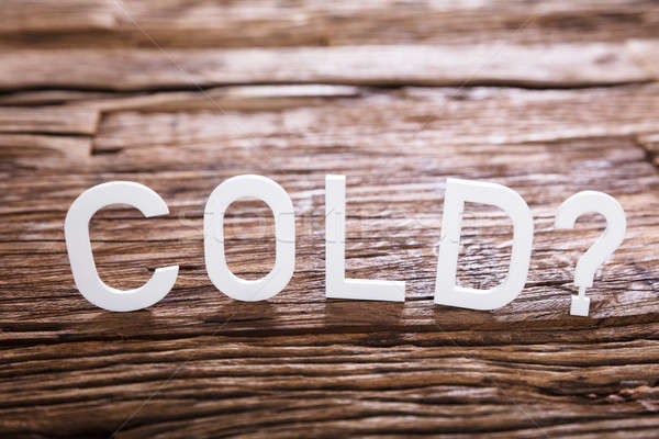 Cold Text With Question Mark Sign Stock photo © AndreyPopov