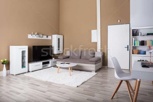 Int rieur salon contemporain tv canap for Interieur ordinateur