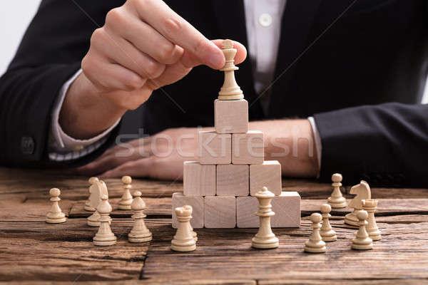 Re pezzo degli scacchi top primo piano Foto d'archivio © AndreyPopov