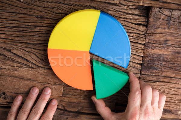 Businessperson Placing A Last Piece Into Pie Chart Stock photo © AndreyPopov