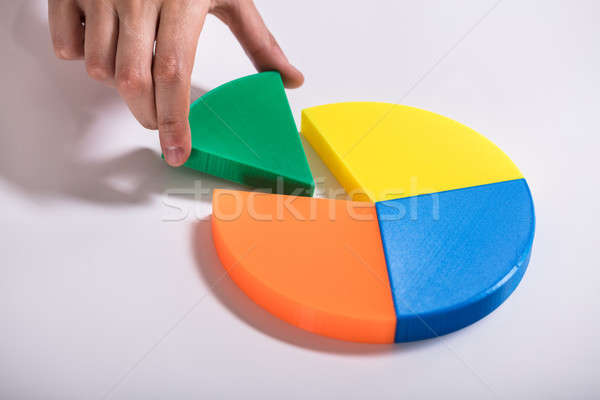 Businessperson Placing Last Piece Into Pie Chart Stock photo © AndreyPopov