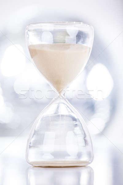 Areia ampulheta fechar ver relógio Foto stock © AndreyPopov