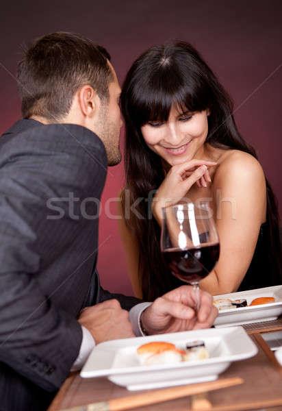 Young couple having romantic conversation Stock photo © AndreyPopov