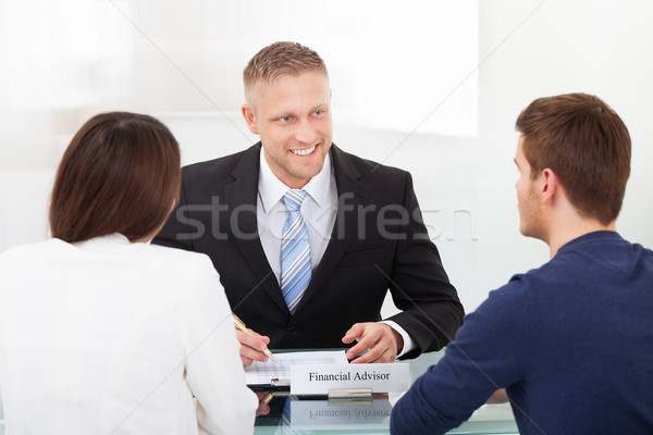 Couple Consulting Financial Advisor Stock photo © AndreyPopov
