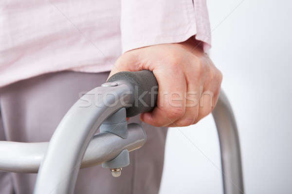 Senior Woman With Walking Frame Stock photo © AndreyPopov