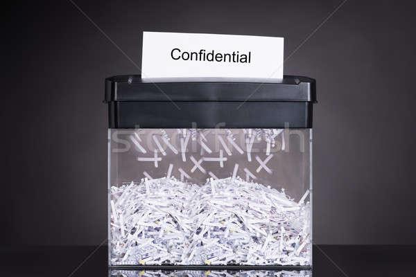 Shredded destroying confidential document Stock photo © AndreyPopov