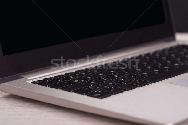 クローズアップ ラップトップコンピュータ キーボード 写真 表 ストックフォト © AndreyPopov