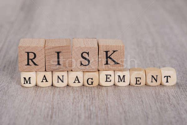 Risk Management Blocks On Table Stock photo © AndreyPopov