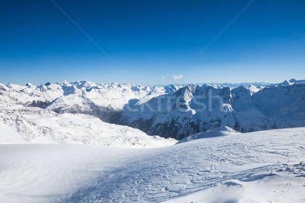 Winter Landscape Of A Ski Resort In The Alps Stock photo © AndreyPopov