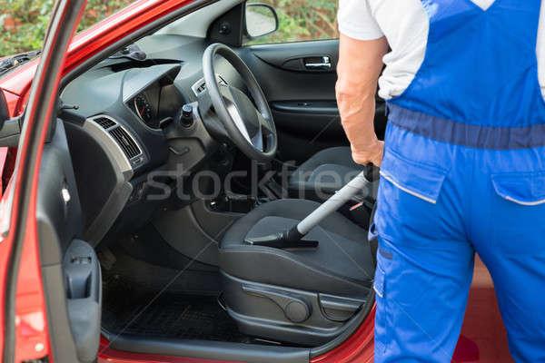 Werknemer auto stofzuiger laag volwassen Stockfoto © AndreyPopov