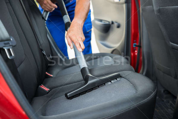 Handyman Vacuuming Car Back Seat Stock photo © AndreyPopov