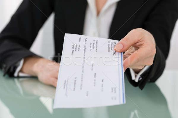 деловая женщина стороны проверка фото деньги Сток-фото © AndreyPopov