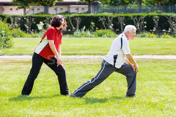 Couple Doing Work Out In Park Stock photo © AndreyPopov