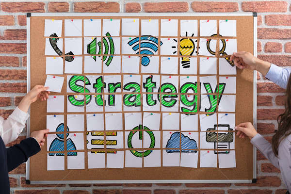 Business People Making Strategy Concept With Adhesive Notes Stock photo © AndreyPopov