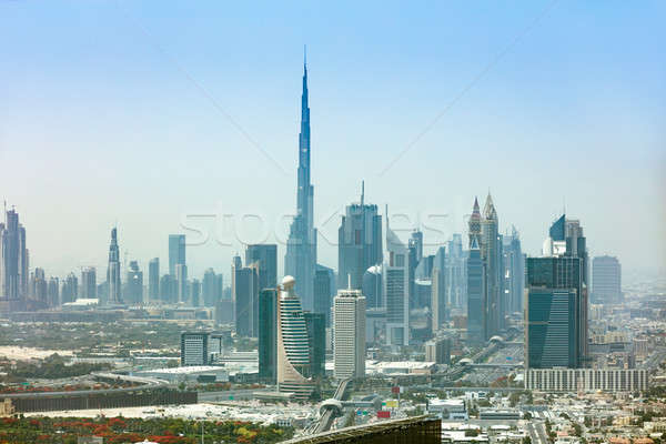 Cityscape foto moderno grattacieli città strada Foto d'archivio © AndreyPopov