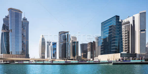 Affaires Skyline arabes ciel eau bâtiment Photo stock © AndreyPopov