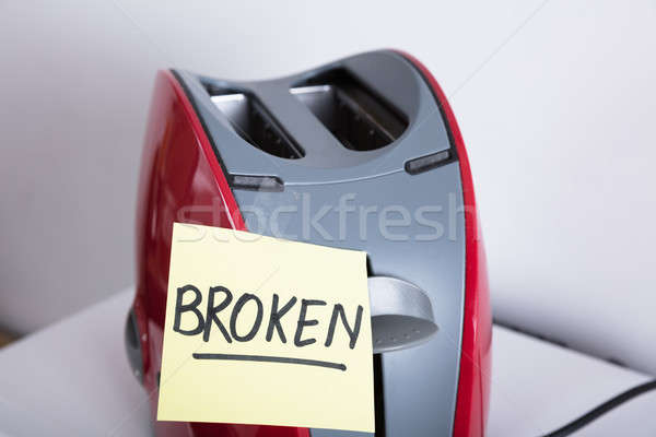 Close-up Of A Red Toaster Stock photo © AndreyPopov