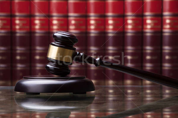 Close-up Of A Wooden Gavel Stock photo © AndreyPopov