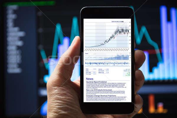 Human Hang Using Mobile Phone Stock photo © AndreyPopov