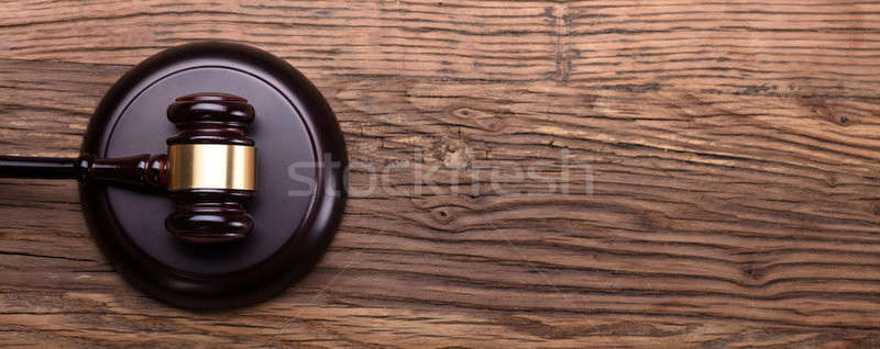 High Angle View Of Gavel On Sounding Block Stock photo © AndreyPopov