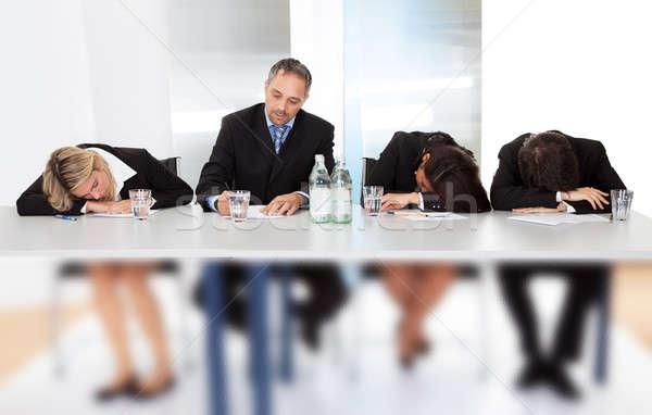 Gente de negocios dormir reunión grupo negocios mano Foto stock © AndreyPopov