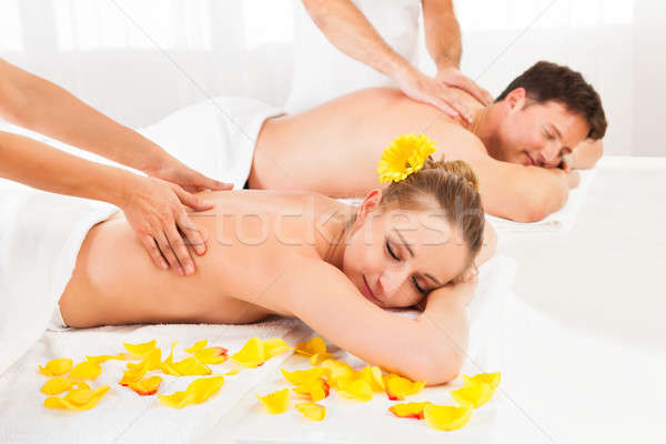 Attractive couple having a massage Stock photo © AndreyPopov