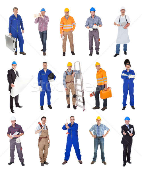 Industrial construction workers Stock photo © AndreyPopov
