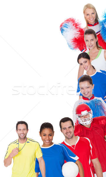 Large group of sports people Stock photo © AndreyPopov