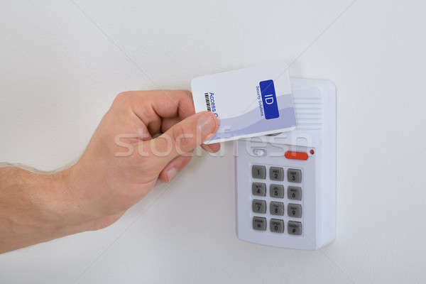 Using Security Card Stock photo © AndreyPopov