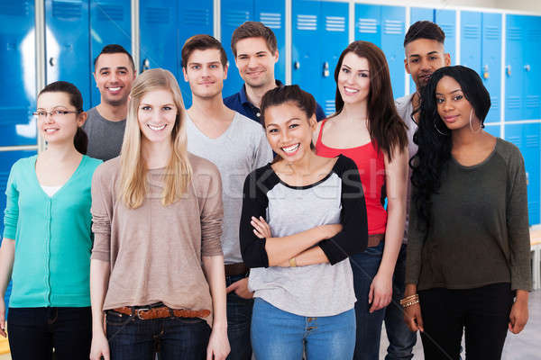 Group Of Multiethnic College Students Standing Together Stock photo © AndreyPopov