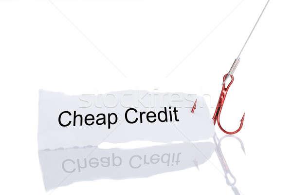 Ucuz kredi kâğıt tuzak yalıtılmış beyaz Stok fotoğraf © AndreyPopov