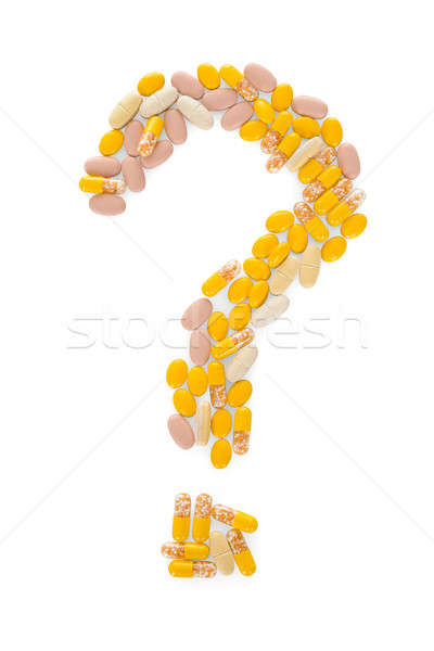Pills In The Shape Of A Question Mark Stock photo © AndreyPopov