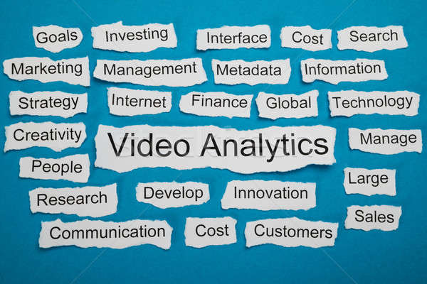 Word Video Analytics On Piece Of Torn Paper Stock photo © AndreyPopov