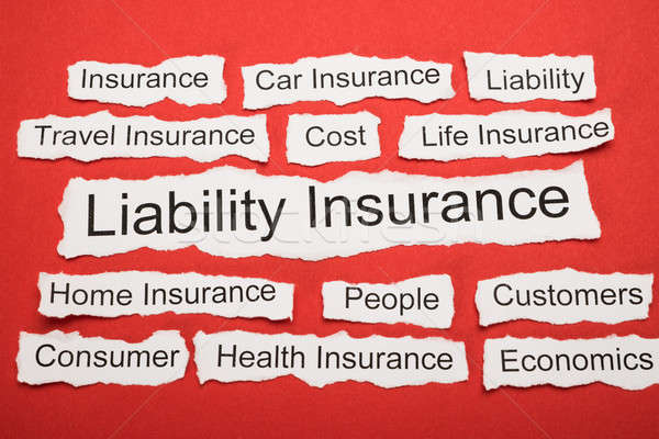 Liability Insurance Text On Piece Of Torn Paper Stock photo © AndreyPopov