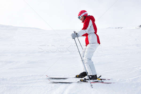 Young Woman Skiing Stock photo © AndreyPopov