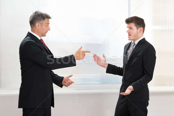 Two Businessmen Quarreling Stock photo © AndreyPopov