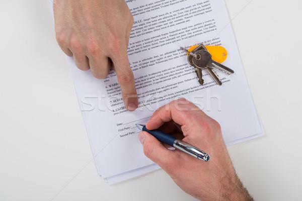 клиент знак договор бумаги изображение Сток-фото © AndreyPopov