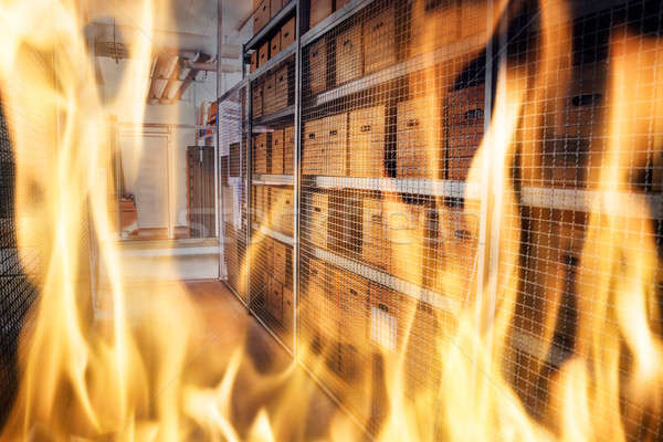 Fire Burning Inside The Storage Apartment Stock photo © AndreyPopov