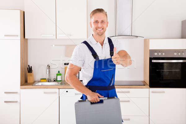Male Worker With Toolkit Stock photo © AndreyPopov