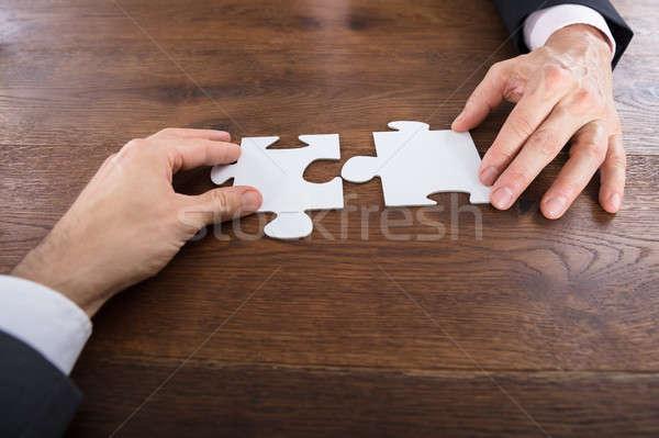 Dois peças do puzzle ver Foto stock © AndreyPopov