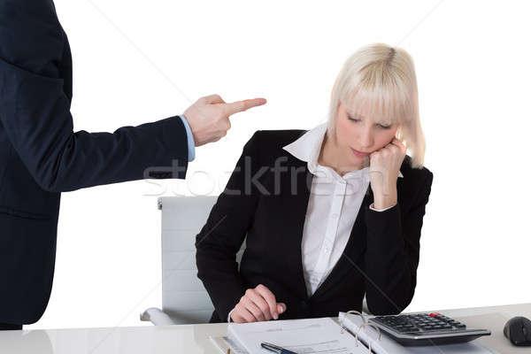 Businessman Scolding His Colleague Stock photo © AndreyPopov
