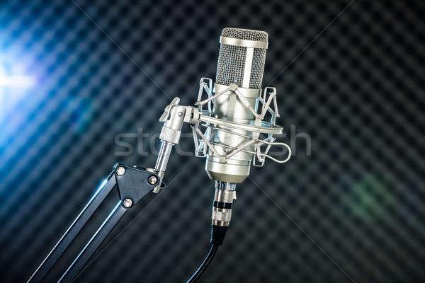 Micro studio floue lumières musique Photo stock © AndreyPopov