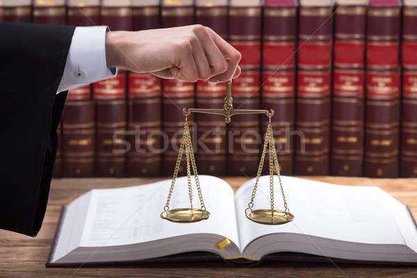 Judge Holding Justice Scale Stock photo © AndreyPopov
