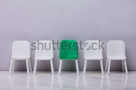 Human Figure Sitting On Increasing Scale Chair Stock photo © AndreyPopov