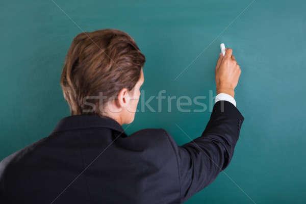 教授 書く 黒板 クローズアップ ビジネス ビジネスマン ストックフォト © AndreyPopov