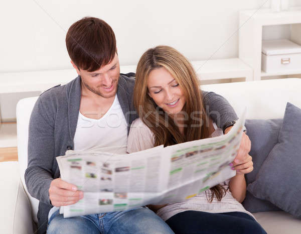 Both read article from newspaper Stock photo © AndreyPopov