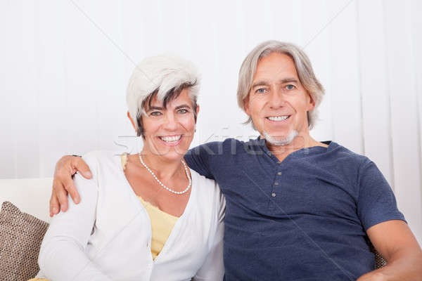 Happy smiling senior couple Stock photo © AndreyPopov
