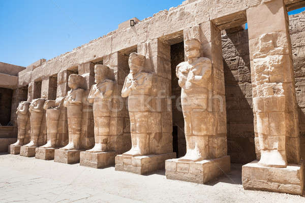 Statues In Karnak Temple Stock photo © AndreyPopov