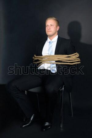 Empresario silla retrato jóvenes cuerda negocios Foto stock © AndreyPopov